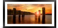 Submerged Jetty on Coniston Water, Framed Mounted Print