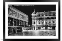 Welcome to Sheffield's Theatre land, Framed Mounted Print