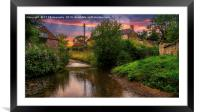 The Ford at Thirlby, North Yorkshire., Framed Mounted Print