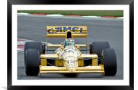 Lotus Type 101T F1 Car, Framed Mounted Print