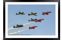 The Red Arrows with Eagle Squadron, Framed Mounted Print