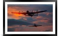 Lancaster and Hurricane of the BBMF, Framed Mounted Print