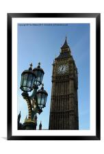 The clock tower of Big Ben, London, Framed Mounted Print