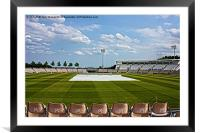Hampshire County Cricket Ground, Framed Mounted Print