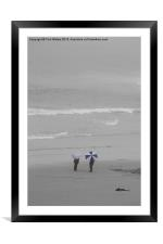 Brolly Holiday, Framed Mounted Print