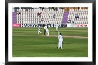 Cricket Match Hampshire, Framed Mounted Print