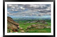 View from Almscliff Crag #4., Framed Mounted Print