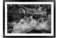 Austerity Class Engine in Mono, Framed Mounted Print