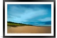 Alnmouth Beach., Framed Mounted Print