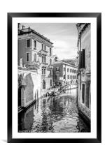 The Quiet Side #1 Mono, Framed Mounted Print