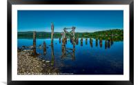 The Old Jetty, Loch Awe., Framed Mounted Print