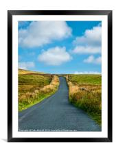 Country Road, Framed Mounted Print