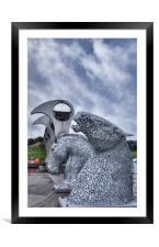 The Kelpies , Framed Mounted Print