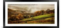 The Engish Lake District, Framed Mounted Print