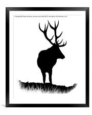 Monarch Of The Park Silhouette, Framed Mounted Print