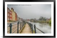 Along the River Severn, Framed Mounted Print