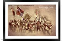 Bosworth Battlefield Re-enactment, Framed Mounted Print