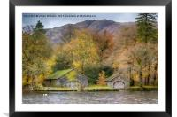 BoatHouses, Coniston Water, Framed Mounted Print