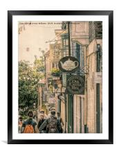 Shops in Lincoln               , Framed Mounted Print