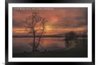 A Windermere Sunset, Framed Mounted Print