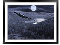 Night Training, Framed Mounted Print