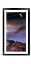 Day to Night, Framed Mounted Print