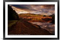 Yorkshire Bridge View, Framed Mounted Print
