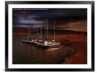 Safe For The Night, Framed Mounted Print