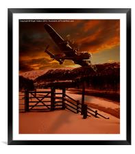 Lancaster at The King's Tree, Framed Mounted Print