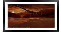 Out of Howden Moor, Framed Mounted Print