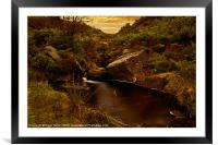 The Small Pool, Framed Mounted Print