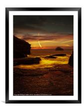 Looking out to Gull Rock, Framed Mounted Print