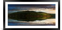 Win Hill Reflections, Framed Mounted Print