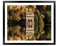 East Tower Reflections, Framed Mounted Print