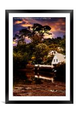 Boat House, Framed Mounted Print