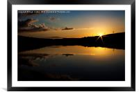 Underbank Sunset, Framed Mounted Print