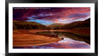 Ouzelden Sunrise, Framed Mounted Print