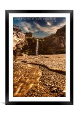 Tintagel Waterfall, Framed Mounted Print