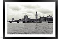 Houses of Parliament, Framed Mounted Print