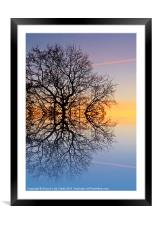 Evening sky trails, Framed Mounted Print