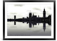 Dark reflections, Framed Mounted Print
