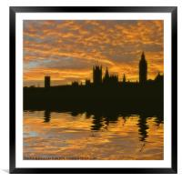 London's burning, Framed Mounted Print