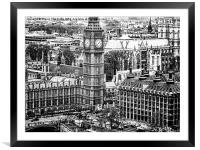 Central London 2, Framed Mounted Print
