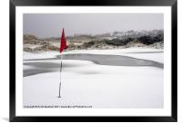 No Golf today, Framed Mounted Print