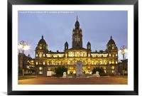 City Chambers In George Square, Framed Mounted Print