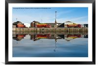 Industrial Reflection, Framed Mounted Print