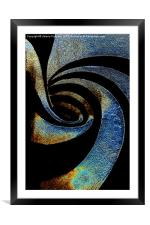 Spiral Abstract, Framed Mounted Print