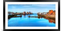 The Mouth Of River Ayr, Framed Mounted Print