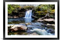 Falls Of Falloch, Framed Mounted Print