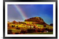 Rainbow Over Loudon Hill, Framed Mounted Print